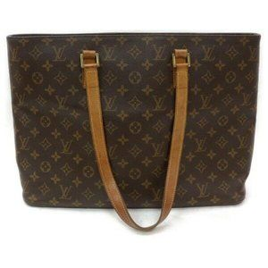 Auth Louis Vuitton Luco Tote Bag Brown #6245L30